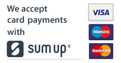 We accept payments with Payleven powered by sum-up